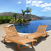 Teak Chaise Lounges and Day Beds