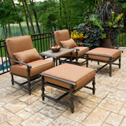 Cast Aluminum Outdoor Chat Sets