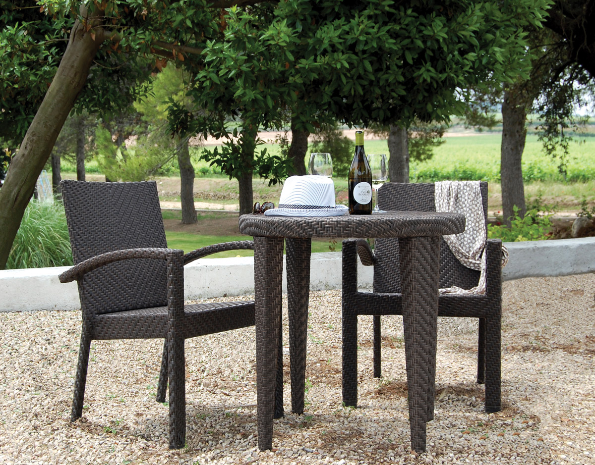 3 Pc. Soho Bistro Set - Shown with 2 Arm Chairs