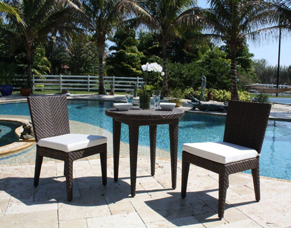 3 Pc. Soho Bistro Set - Shown with 2 Side Chairs and Optional Cushions