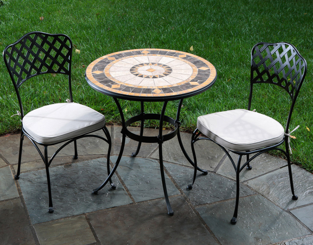 """Compass 30"""" Rd. Marble Mosaic Bistro Set 21-1328"""