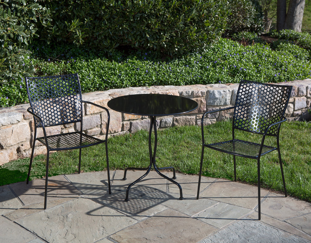 ... Martini 3 Piece Bistro Set In Black ...