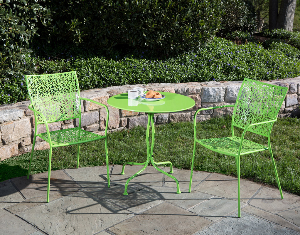 Martini 3 Piece Bistro Set in Key Lime Green