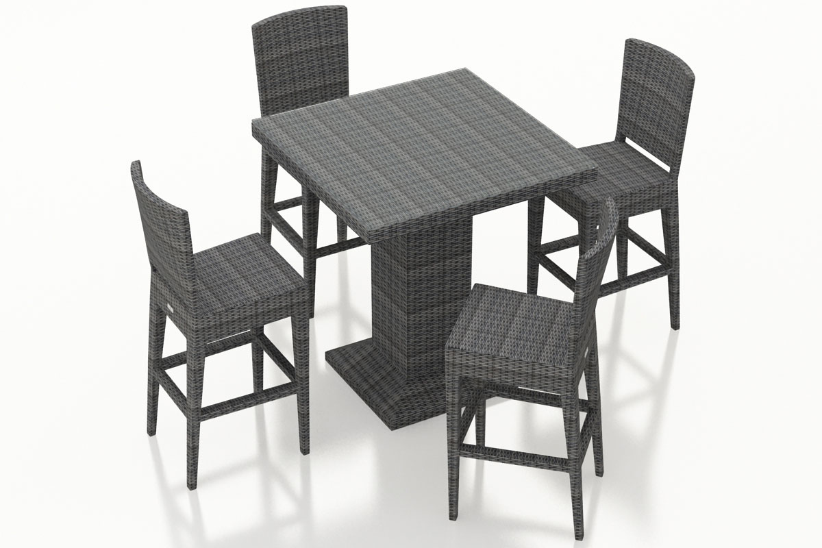 5 Piece District Bar Set (HL-DIS-TS-5BCS-NC) by Harmonia Living