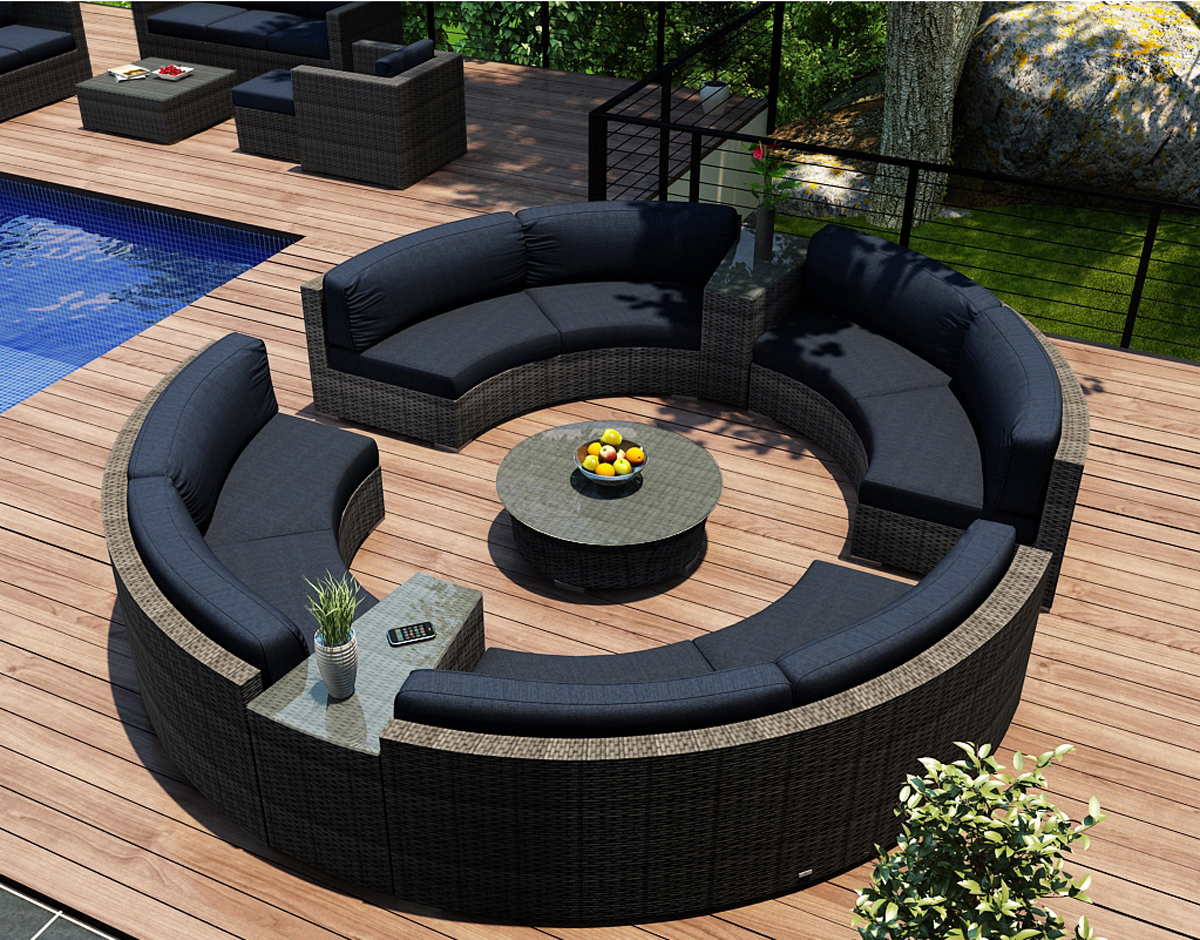 7 Piece District Curved Sectional Set (HL-DIS-TS-7CSEC) by Harmonia Living