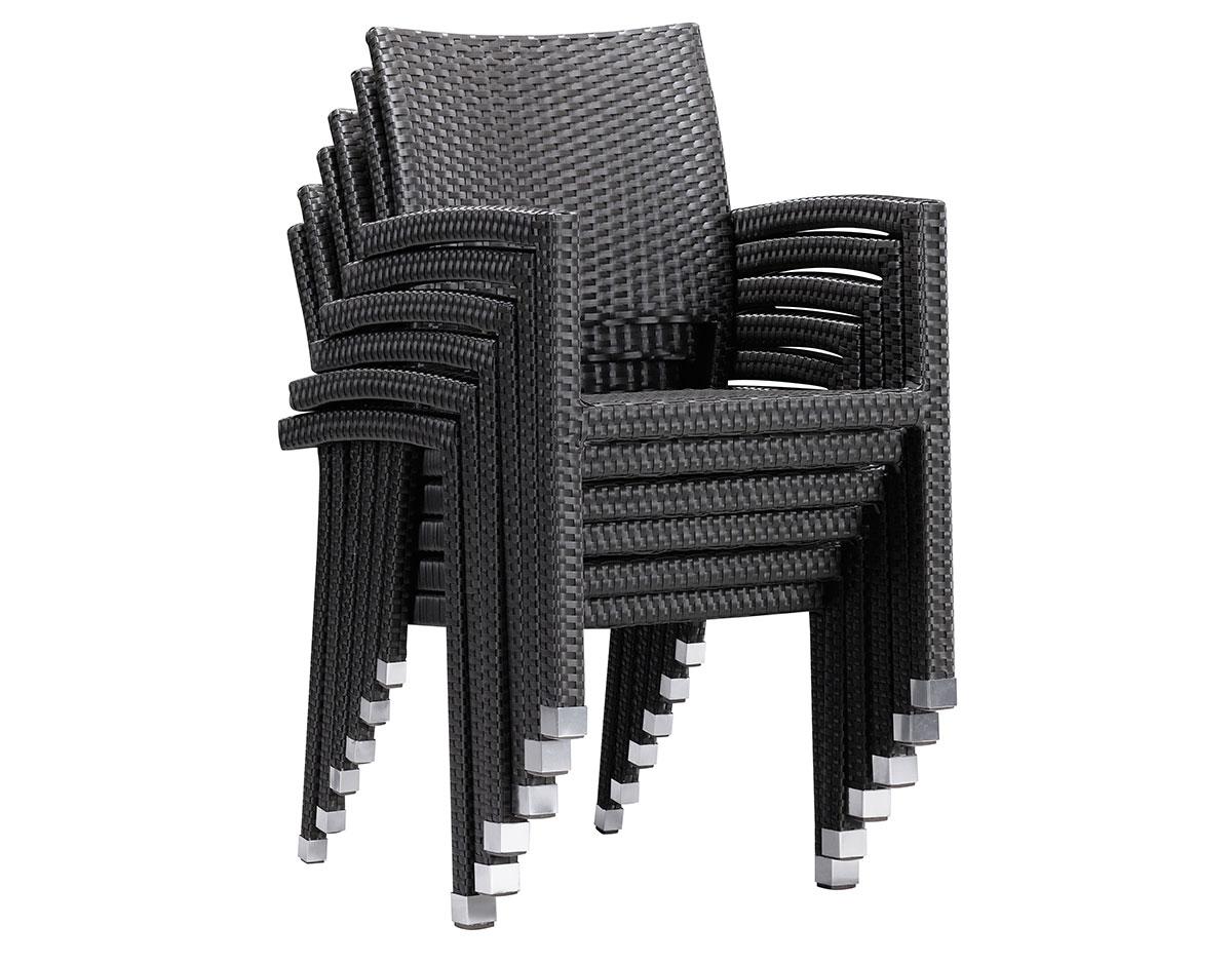 Black Stackable Chairs boracay dining chair (701021) - patio productions