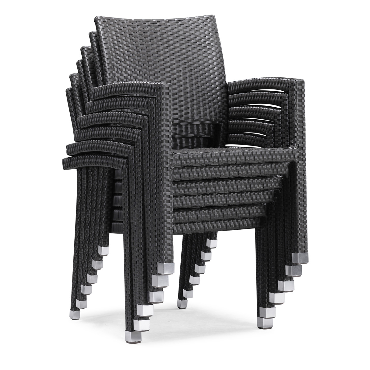 Furniture line the acapulco chair and chat set patio productions -  Boracay Dining Chairs Stack Up For Easy Storage