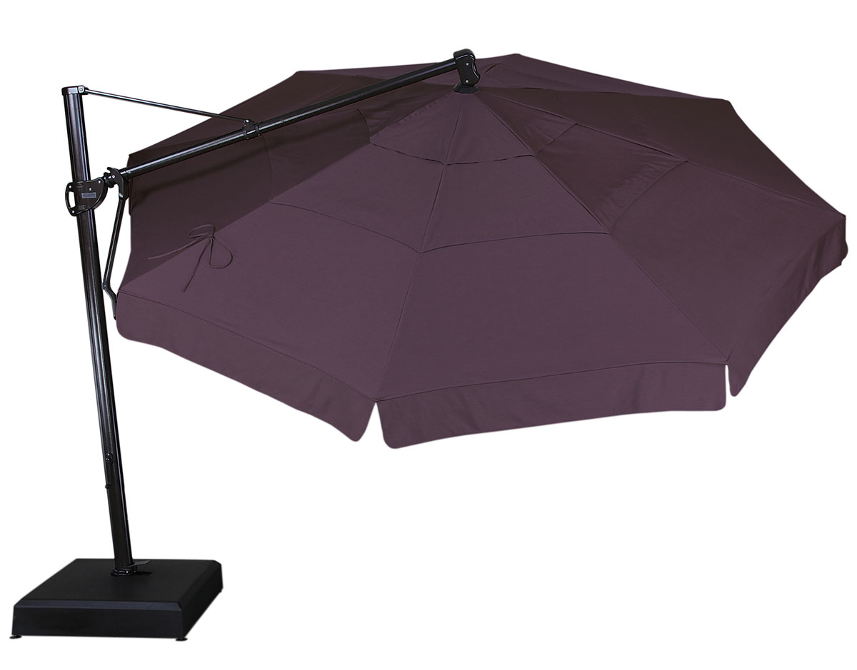 13u0027 cantilever umbrella with wheat sb62 fabric