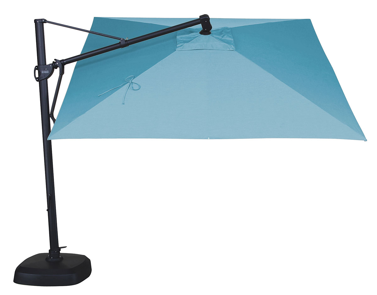 ' square cantilever umbrella (akzsqswv)  patioproductions  - ' x  ' square cantilever umbrella deluxe shown in mineral blue