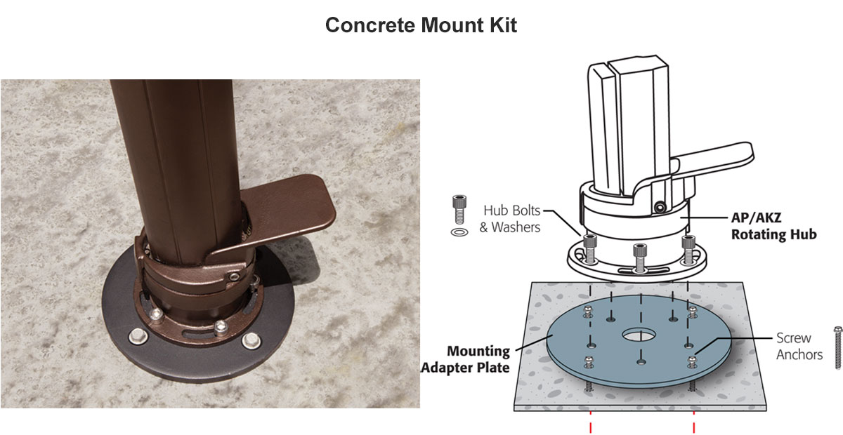 Optional Concrete Mount Kit