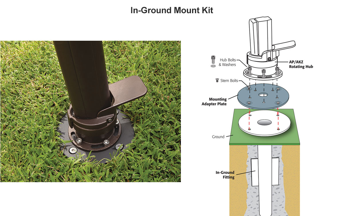 Optional In-Ground Mount Kit