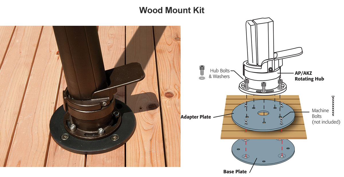 Optional Wood Mount Kit