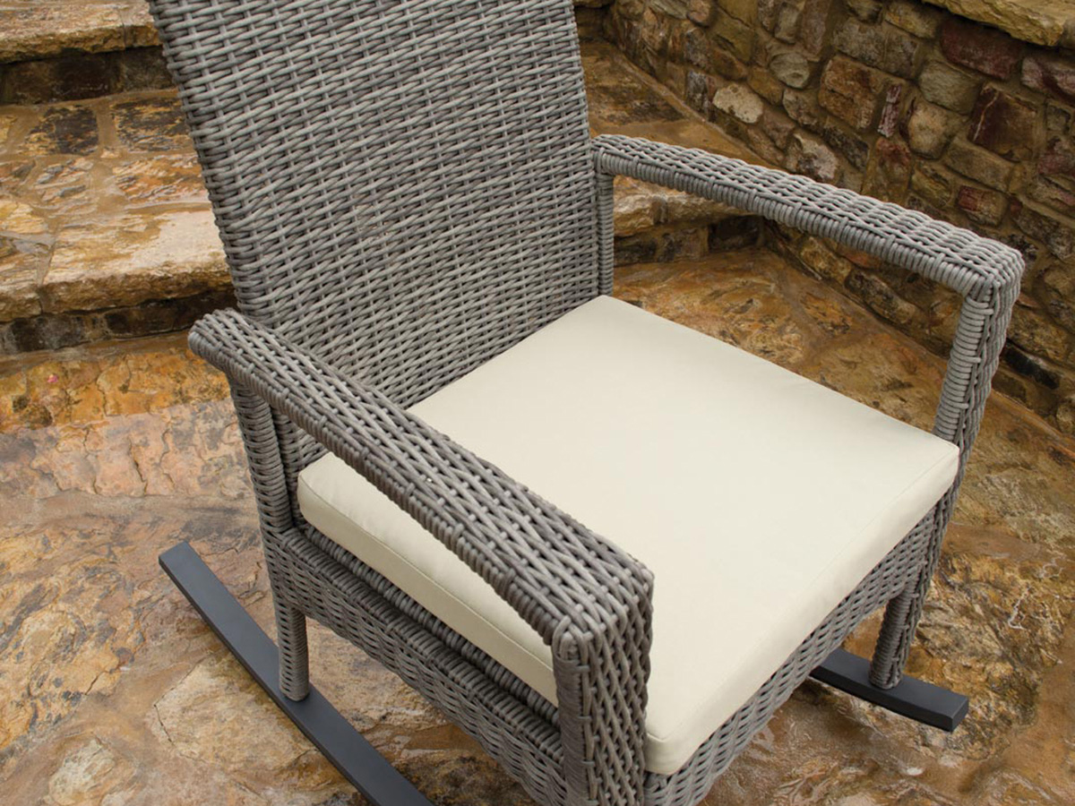 Furniture line the acapulco chair and chat set patio productions - Bayview Side Table Bayview Rocking Chair Seat Detail