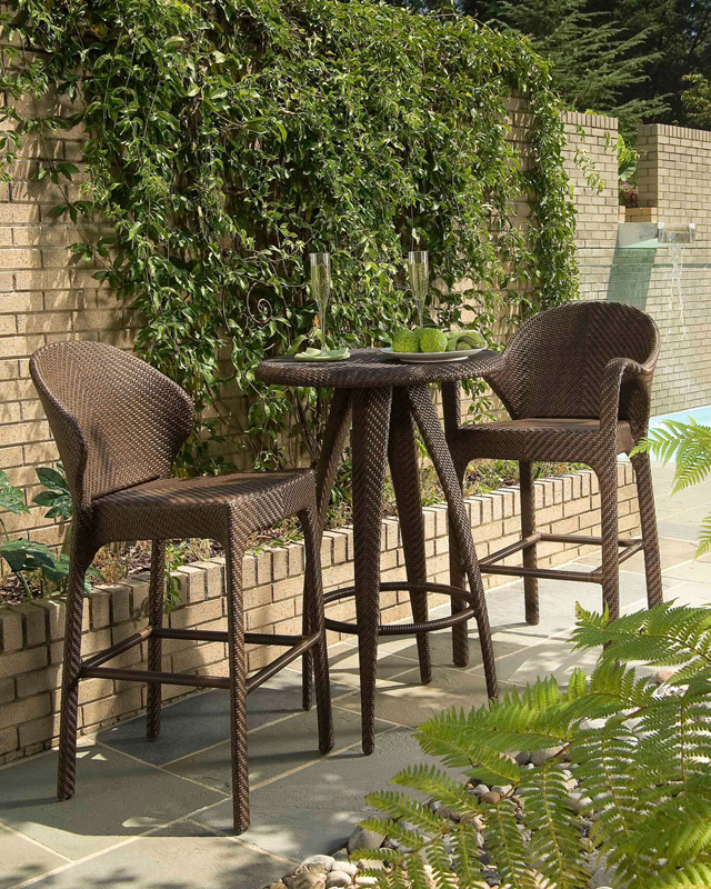 Indo outdoor wicker bar set.