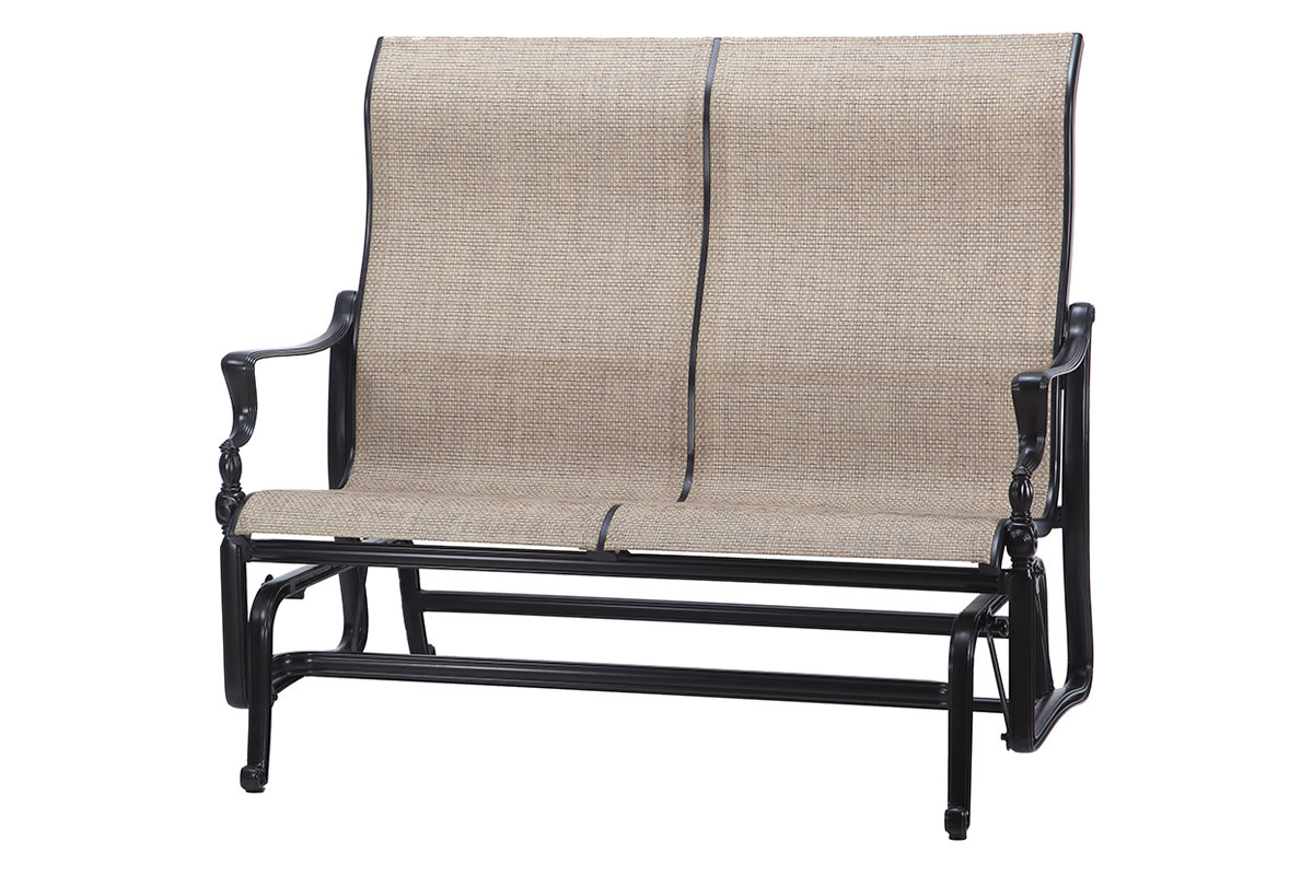 bel air sling high back loveseat glider   patio productions - available