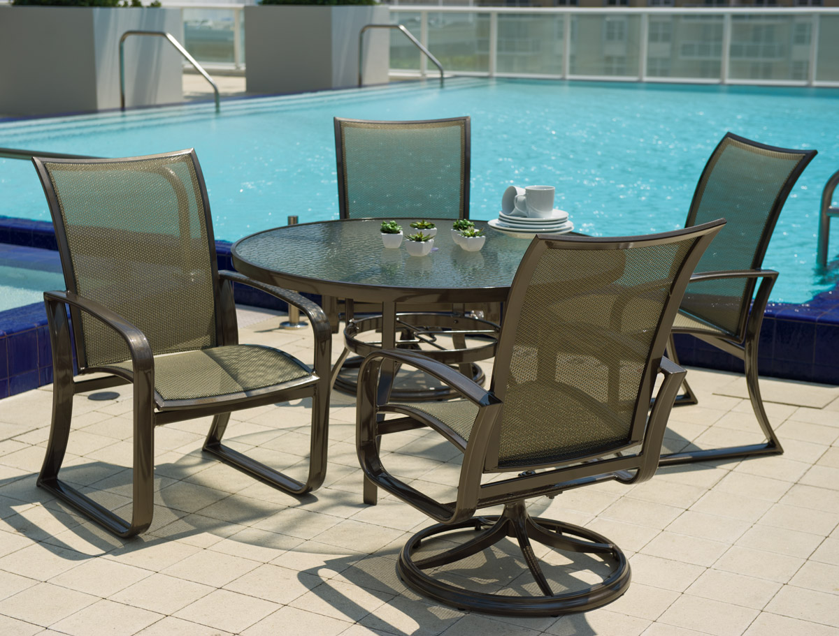5 Pc Cayman Isle Flex Sling Dining Set Patio Productions