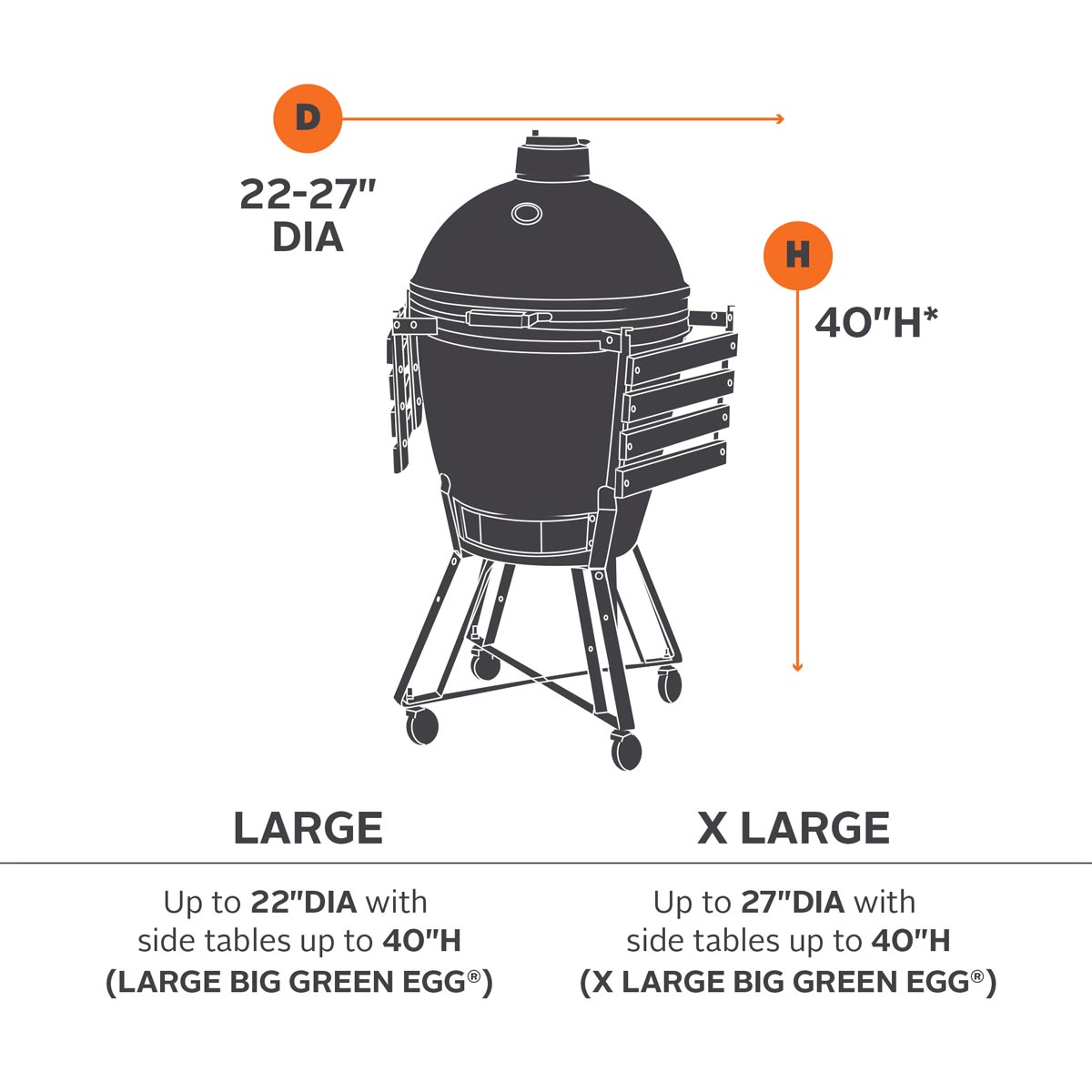 Classic Accessories Hickory Large Ceramic Grill Cover