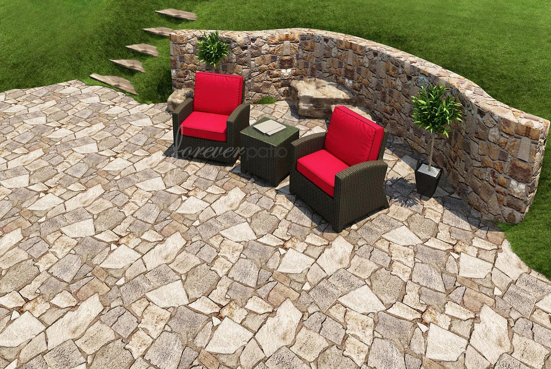 3 Piece Barbados Chat Set by Forever Patio (FP-BAR-3CH-EB)