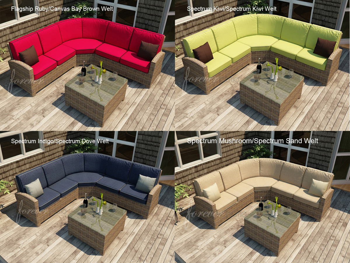 4 Pc. Cypress Sectional Set