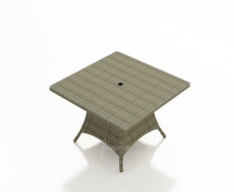 Table with Heather wicker