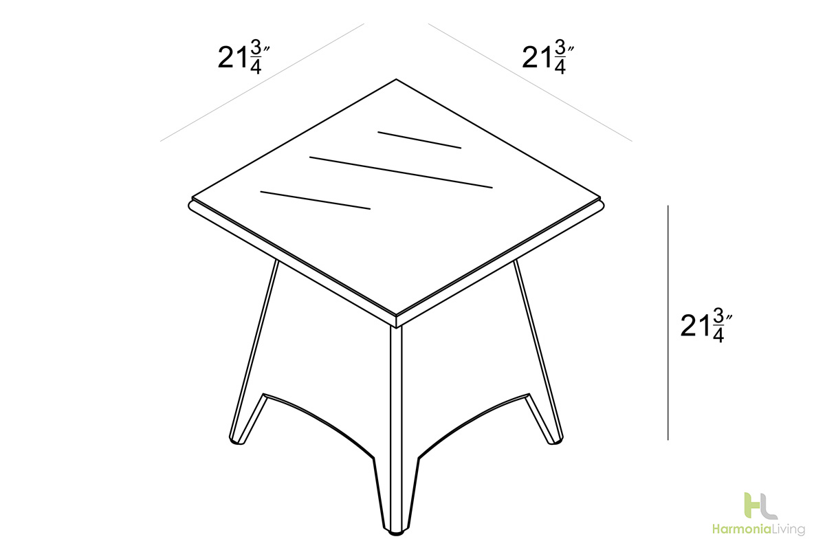 End Table - Dimensions
