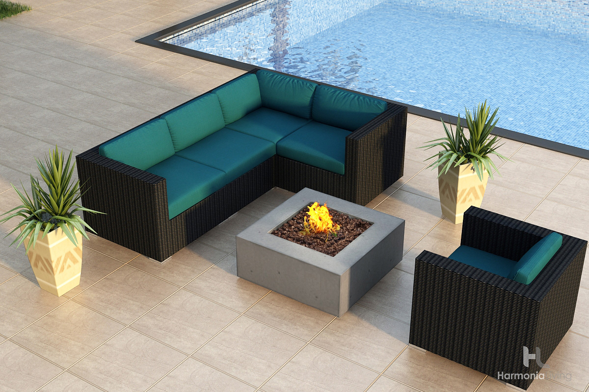 Spectrum Peacock Cushions - Shown with Mezzo Square Fire Pit (see related products)
