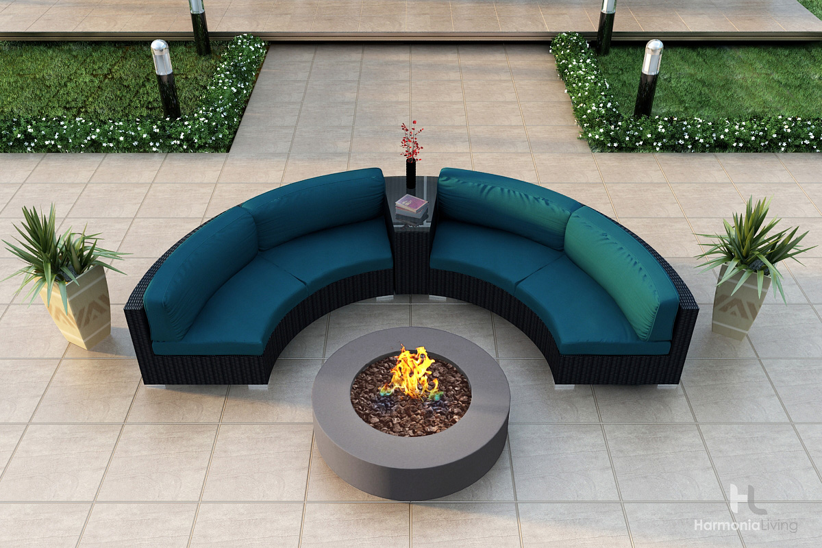 Spectrum Peacock Cushions - Shown with Mezzo Round Fire Pit (see related products)