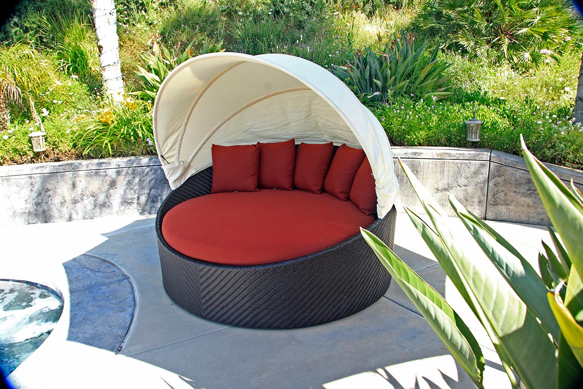 patio trends wink canopy day bed harmonia living outdoor wicker patio furniture synthetic