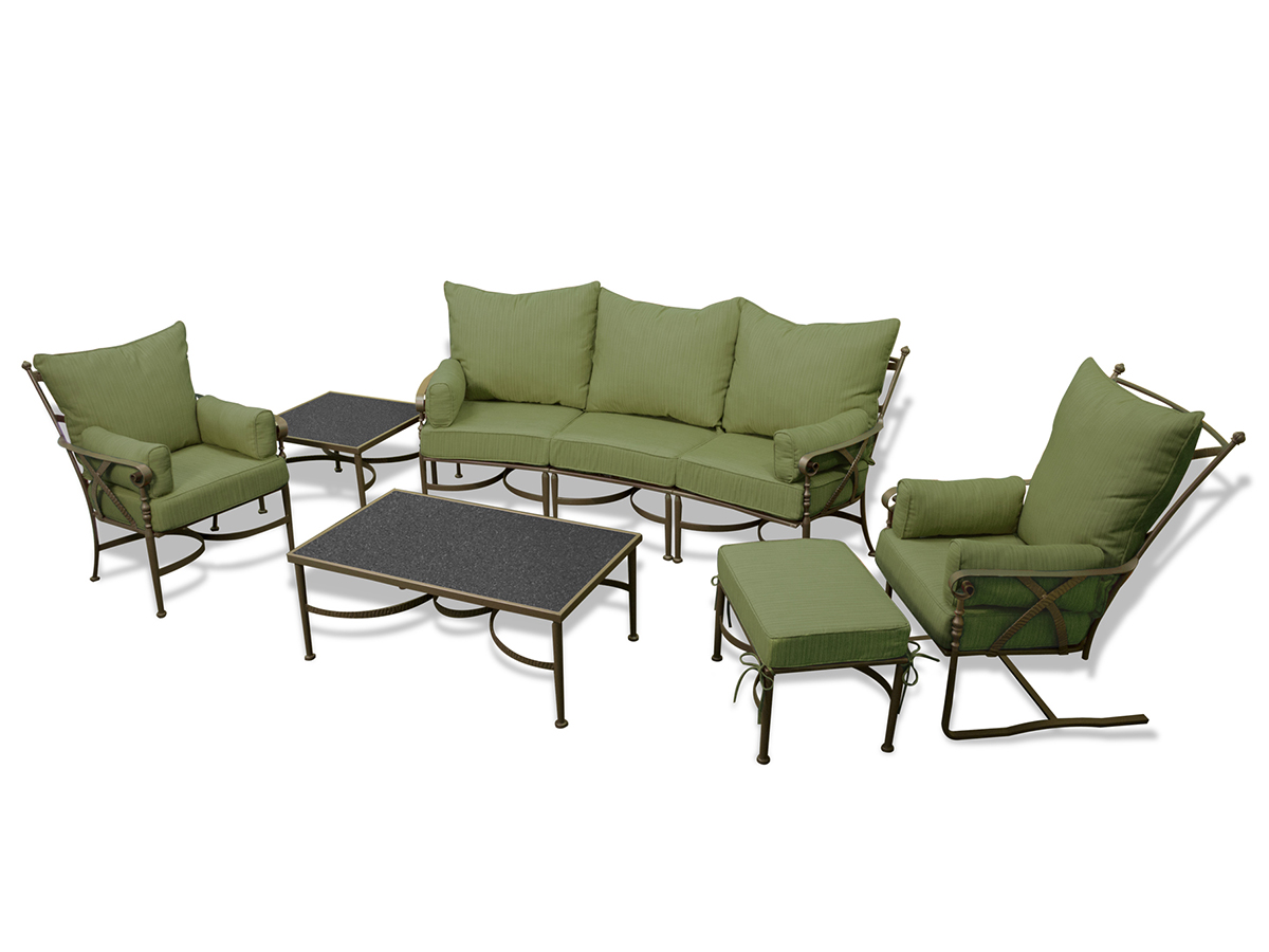 Furniture line the acapulco chair and chat set patio productions -  6 Pc Westgate Sofa Set Palm