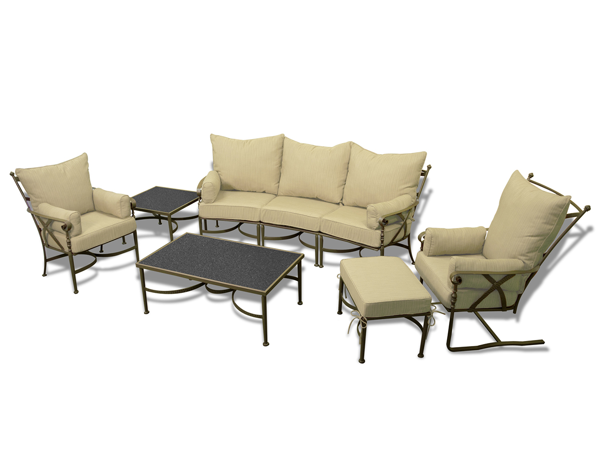 Furniture line the acapulco chair and chat set patio productions -  6 Pc Westgate Sofa Set Sand