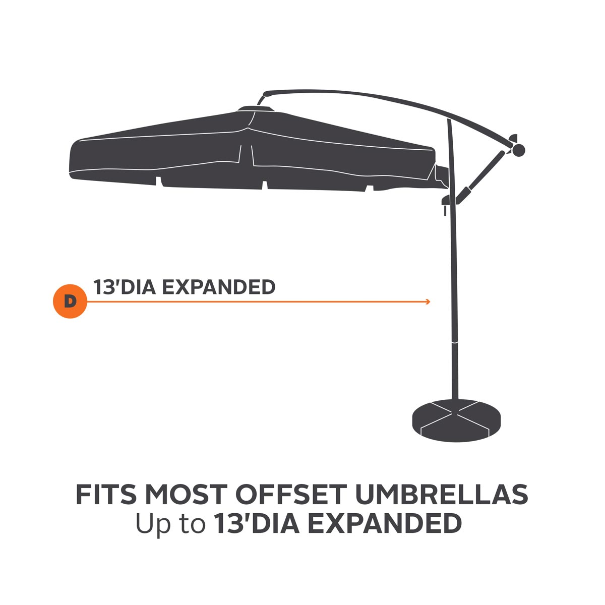 Classic Accessories Hickory Offset Umbrella Cover