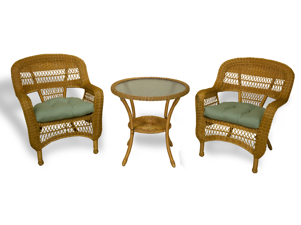 Furniture line the acapulco chair and chat set patio productions - 3 Pc Portside Bistro Set Southwest Amber
