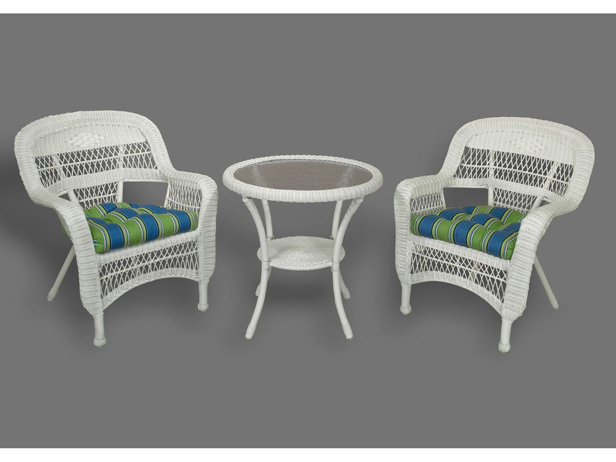Furniture line the acapulco chair and chat set patio productions -  3 Pc Portside Bistro Set Coasta