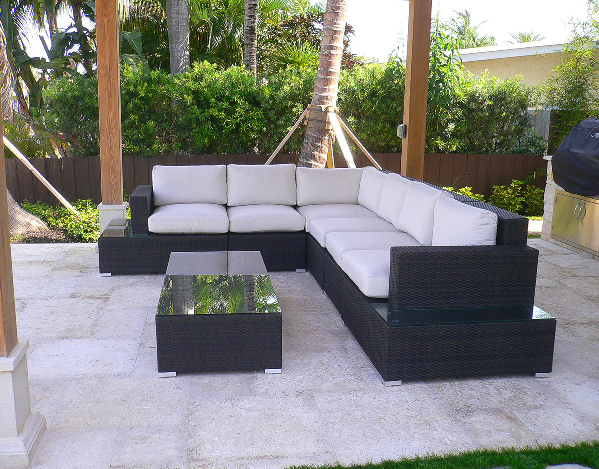 Captivating Pc Hudson Sectional Set Patio Productions New Hudson Bay Outdoor Patio  Furniture Part 5