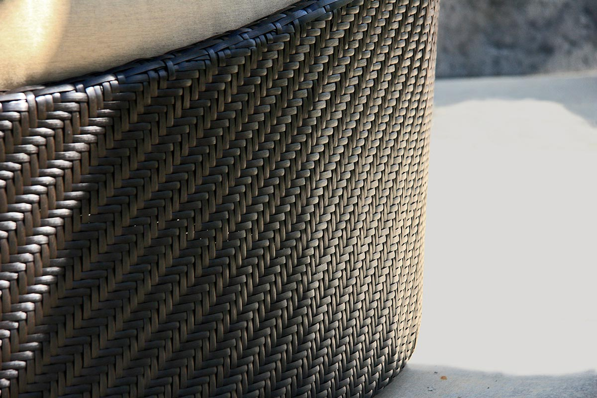Coffee Bean Wicker - in Herringbone Weave
