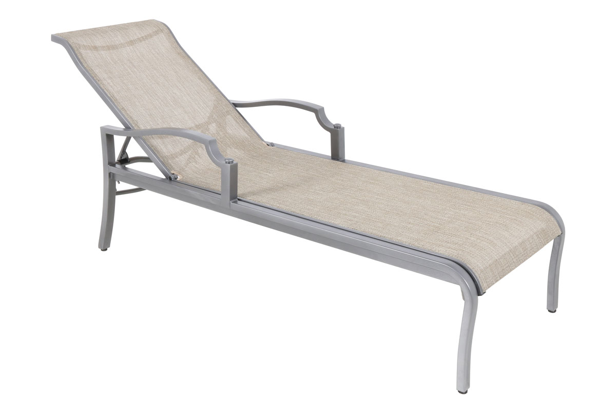 Aragon Sling Chaise Lounge Burmese Sea Mist Sling ...  sc 1 st  Patio Productions : sling chaise lounge chair - Sectionals, Sofas & Couches