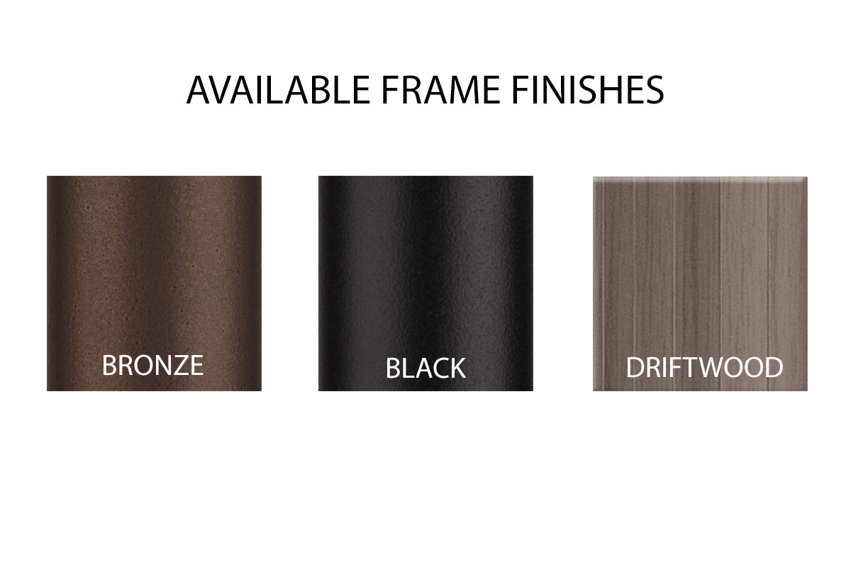 Available Frame Finishes