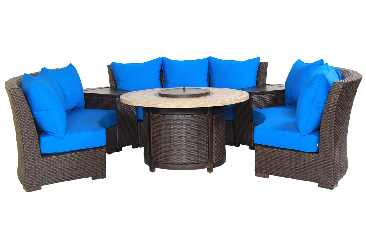 Furniture line the acapulco chair and chat set patio productions -  Canvas Pacific Blue Cushions Bddsgcspb By Patio Resort Lifestyles Inc