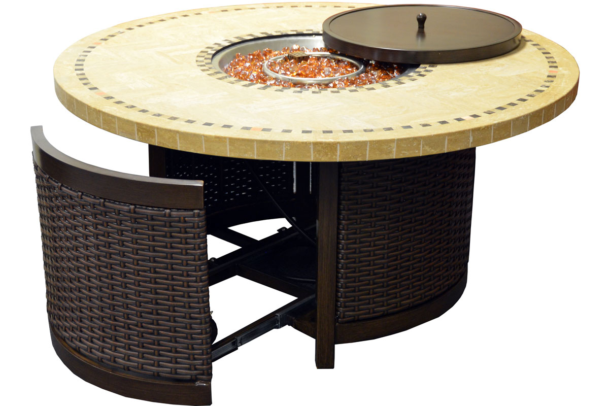 Furniture line the acapulco chair and chat set patio productions - 48 Bermuda Series Round Fire Table