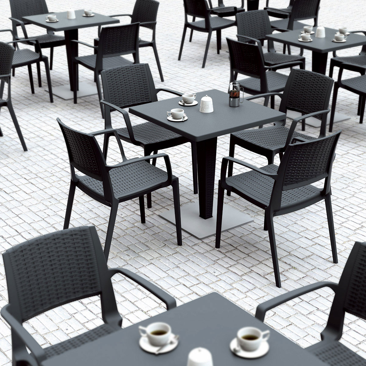 Riva Bistro Set with extra seating