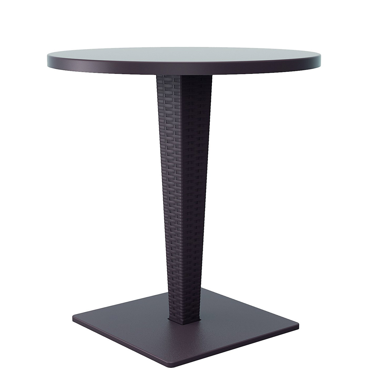 Brown bistro table