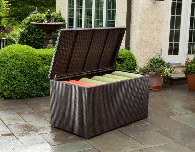 Universal Wicker Cushion Storage Box 43 8307 Patio Productions