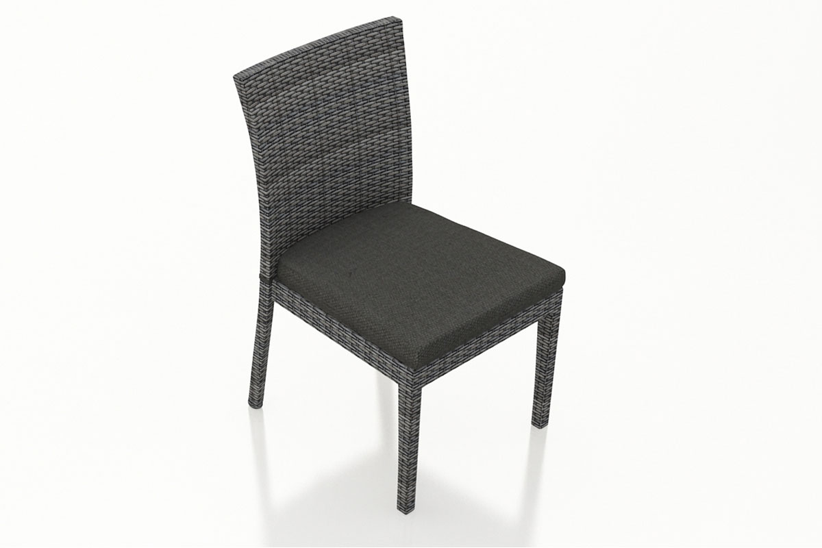 Canvas Charcoal District Dining Side Chair (Set of 2) (HL-DIS-TS-2DSC) by Harmonia Living