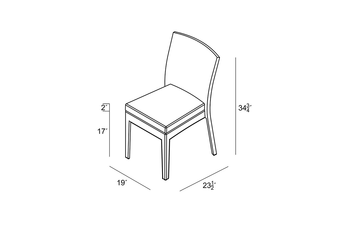 District Dining Side Chair (Set of 2) (HL-DIS-TS-2DSC) by Harmonia Living