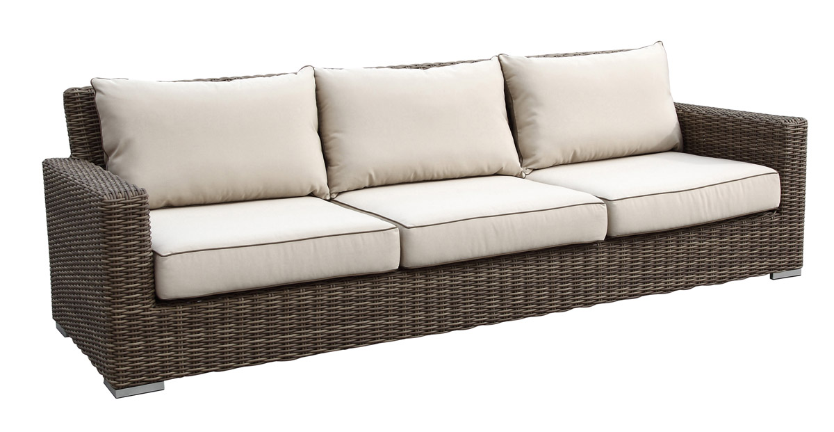 Coronado Outdoor Wicker Sofa by Sunset West