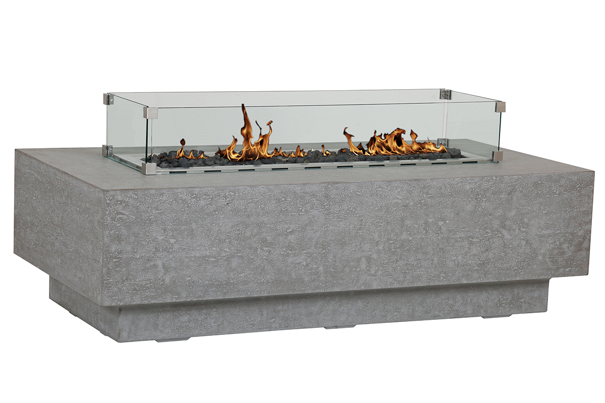 Gravelstone Rectangle Fire Table By Sunset West ...