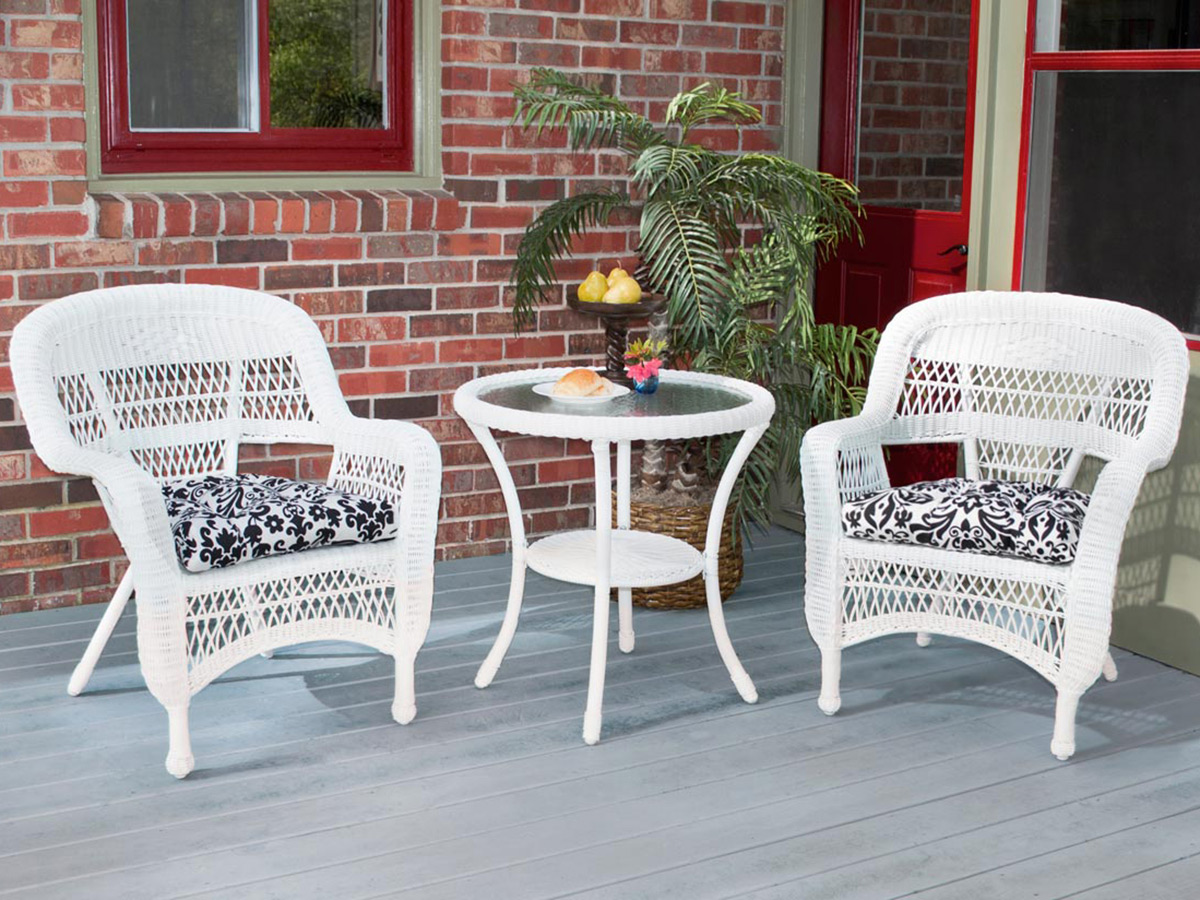 Furniture line the acapulco chair and chat set patio productions -  3 Pc Portside Bistro Set Coastal White