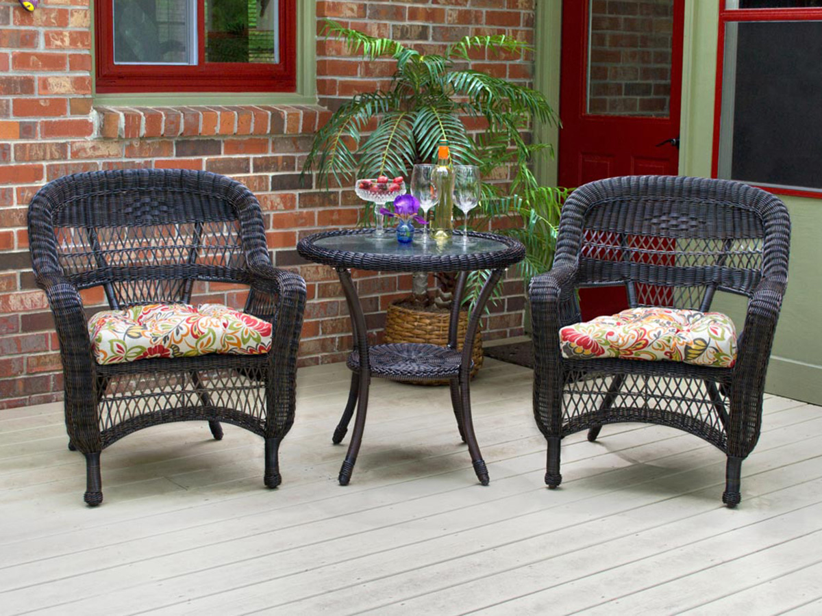 Furniture line the acapulco chair and chat set patio productions -  3 Pc Portside Bistro Set Dark Roast