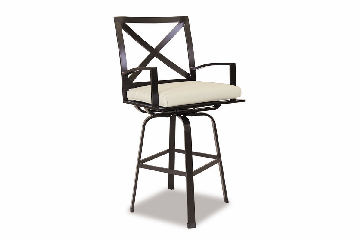 La Jolla Aluminum Counter Stool with Cushions (401-7C) by Sunset West