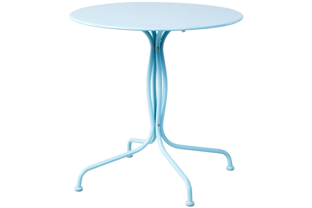 "Martini 27.5"" Rd. Bistro Dining Table in Sky Blue"